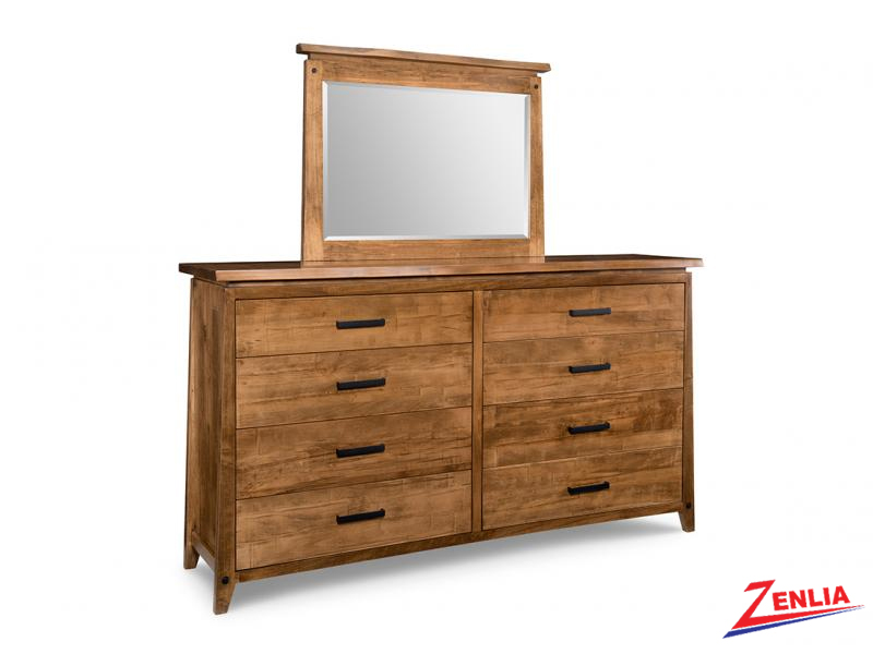 Pembe 8 Drawer Long High Dresser And Mirror