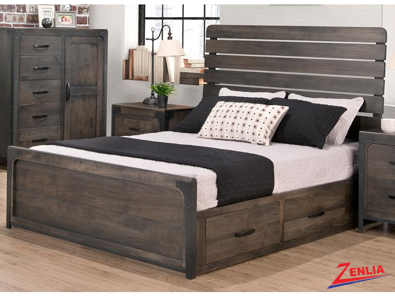 Port Storage Platform Bed With Low Footboard