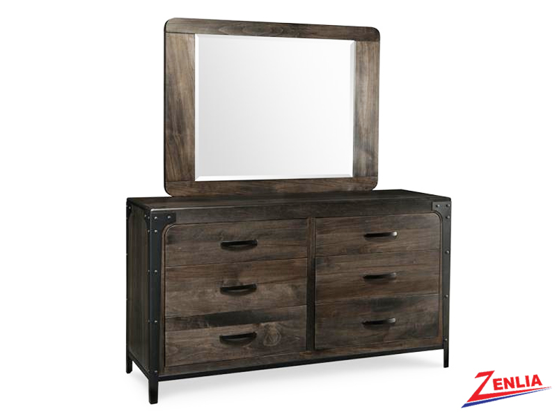 Port 6 Drawer Dresser & Mirror