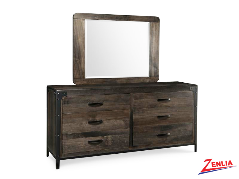 Port 6 Drawer Long Dresser And Mirror