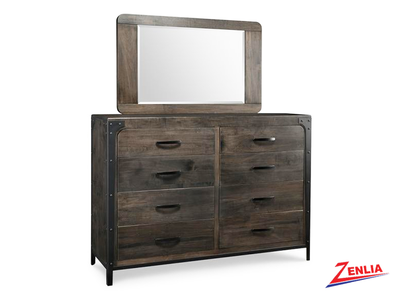 Port 8 Drawer High Dresser & Mirror