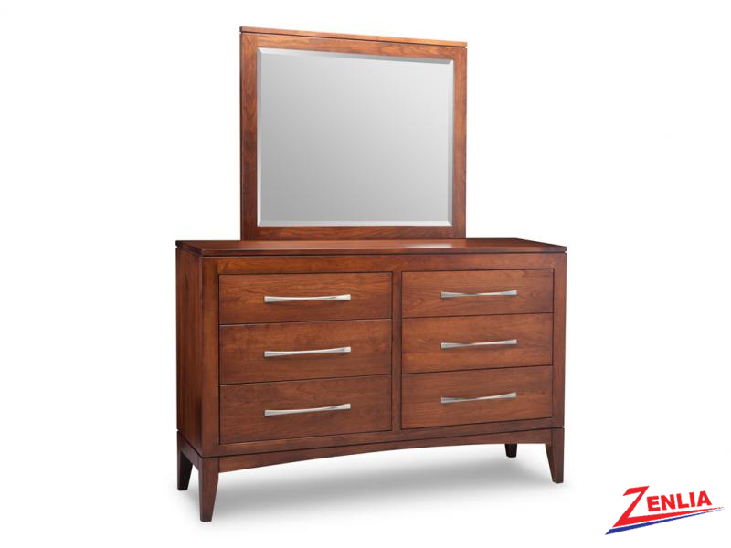 Catal 6 Drawer Dresser & Mirror