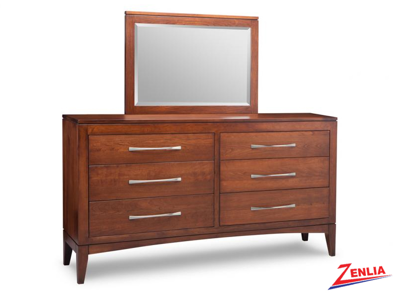 Catal 6 Drawer Long Dresser & Mirror