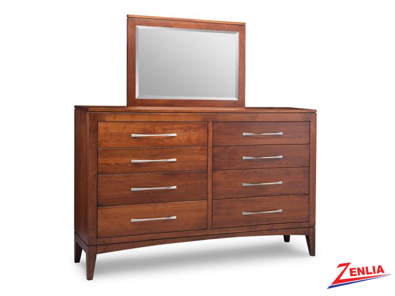 Catal 8 Drawer High Long Dresser And Mirror