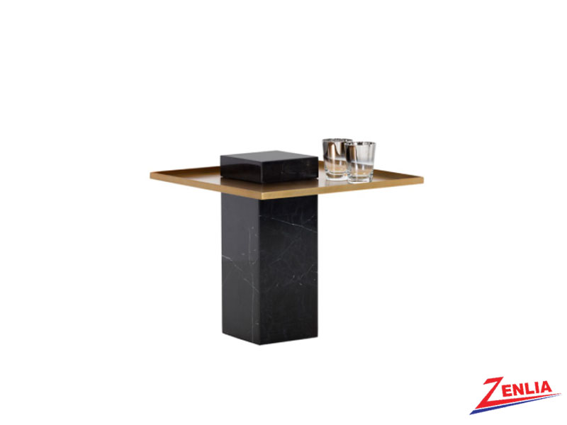 Vero Black Marble End Table
