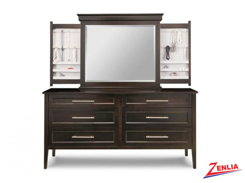 Stock 6 Deep Long Drawer Dresser And Mirror