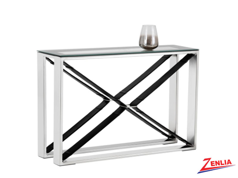Mav Black Console Table