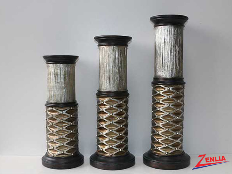 124 3pc Candle Holder Set