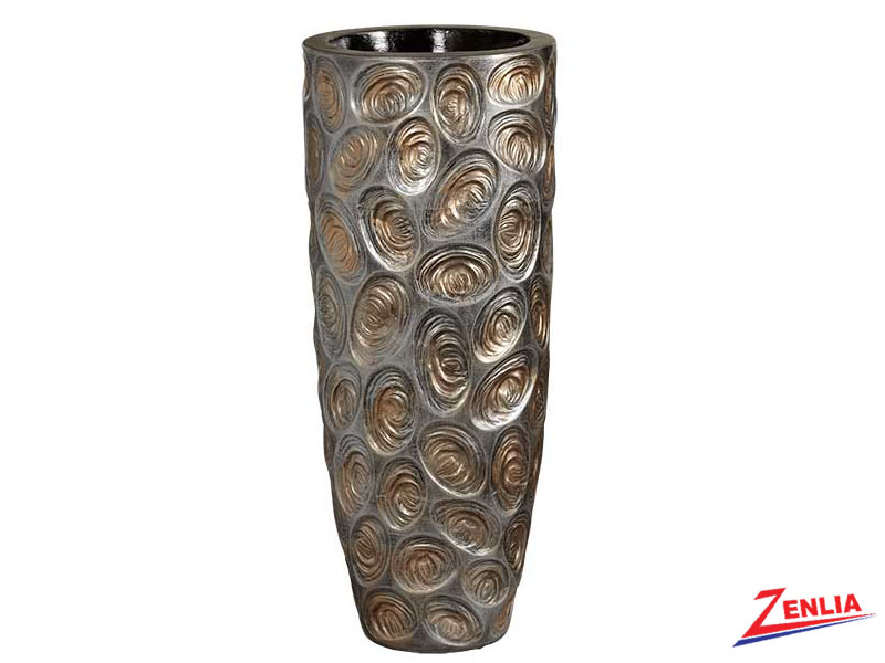Silver And Gold Swirls Vase