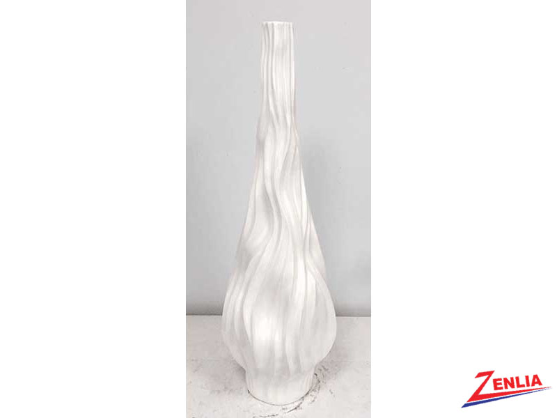 Tall White Pearl Vase