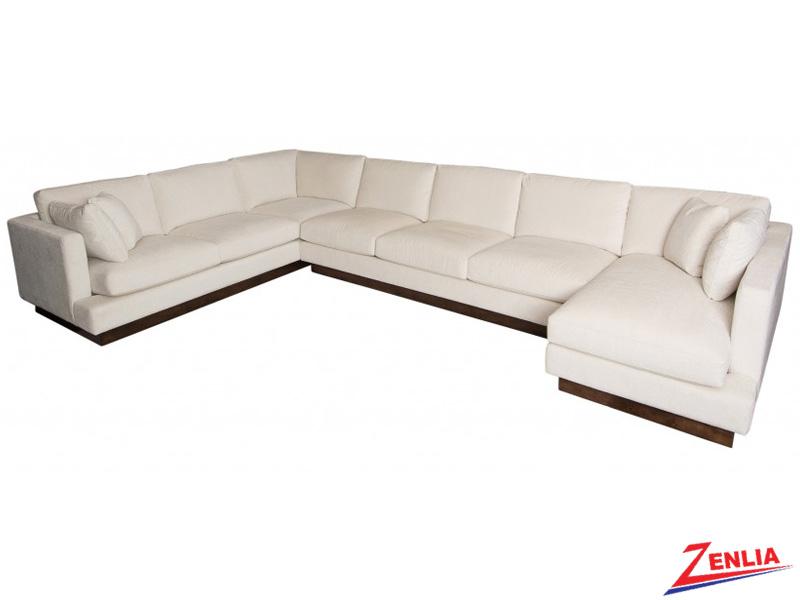 Valen Sectional Custom Designer Fabric Amp Leather