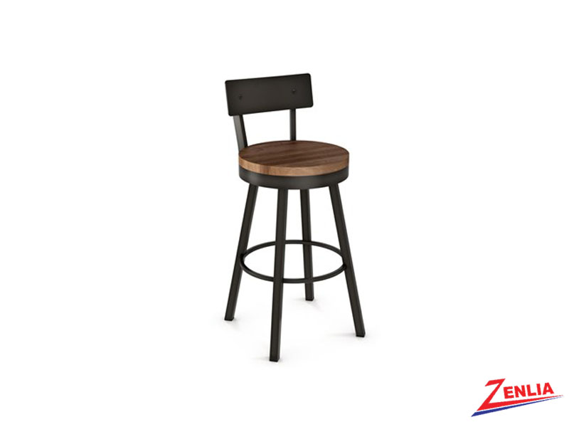 Style 40-593 Metal Wood Swivel Stool