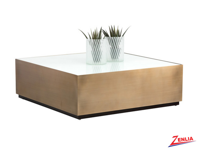 Hud Sq. Glass Coffee Table