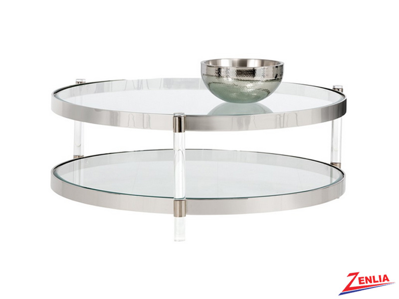 York Round Glass Coffee Table