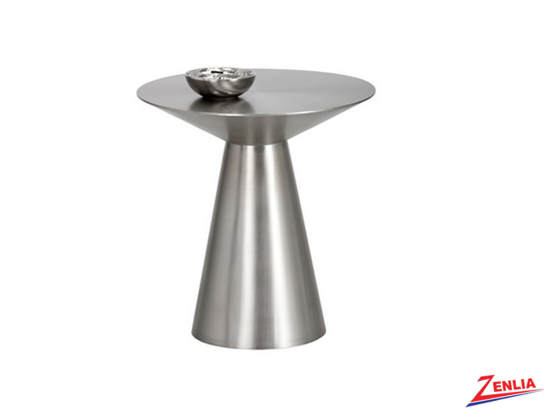 Carm Stainless Steel Side Table