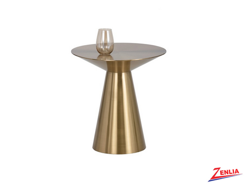 Carm Gold Accent Table
