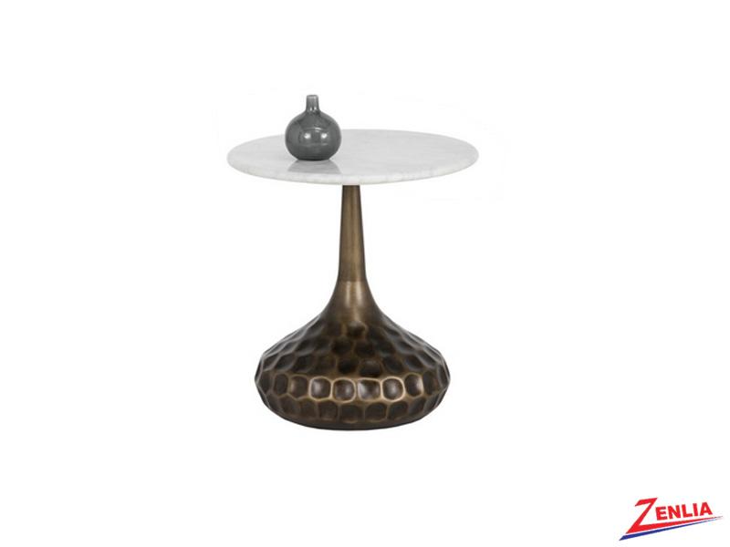 Glori Brass Base End Table