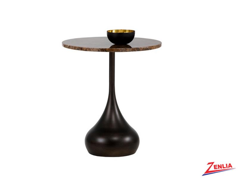 Irela Antique Brass Base End Table