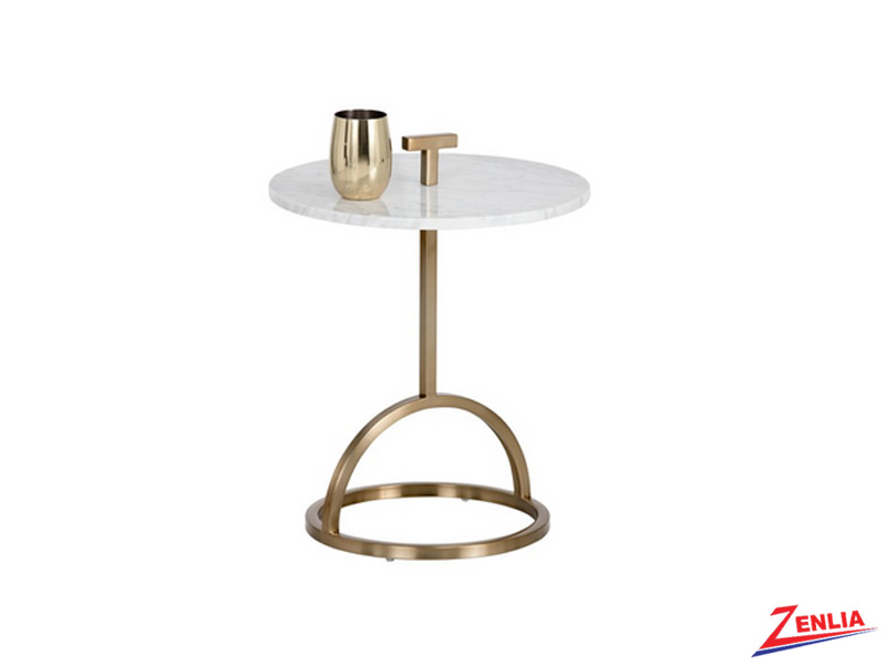 Lib Brushed Brass End Table