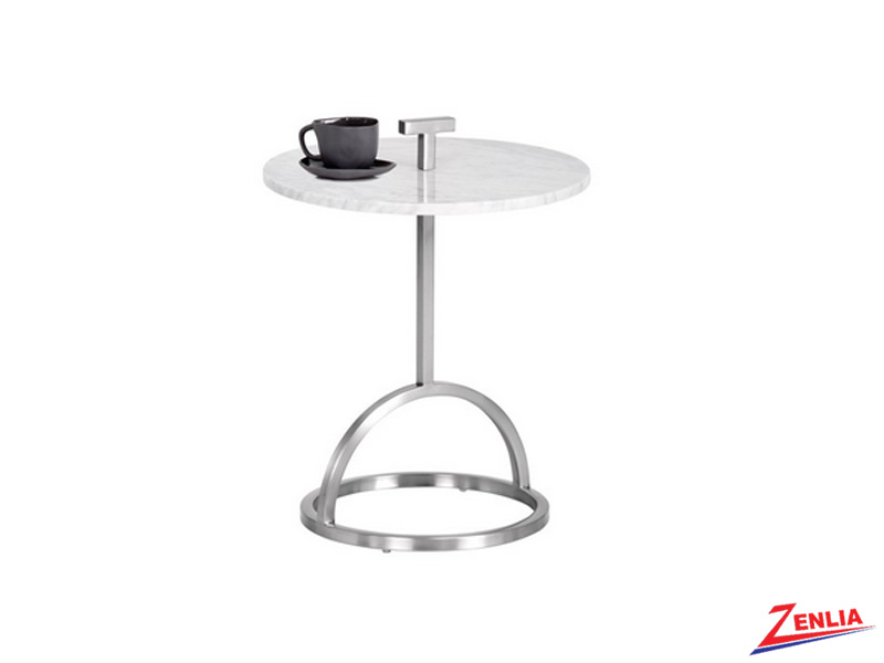 Lib Stainless Steel Base End Table