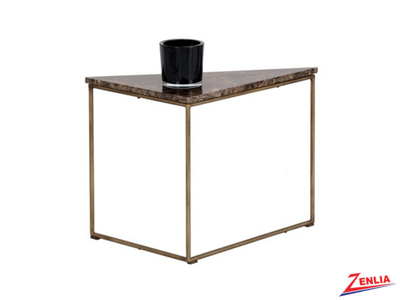 Tribut Brown Marble End Table
