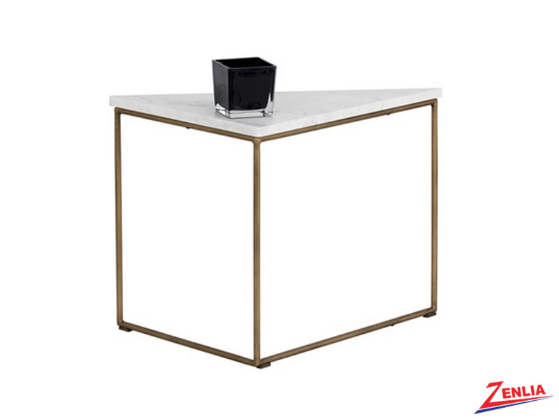 Tribut White Marble End Table