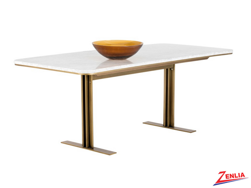 Ambro White Marble Dining Table