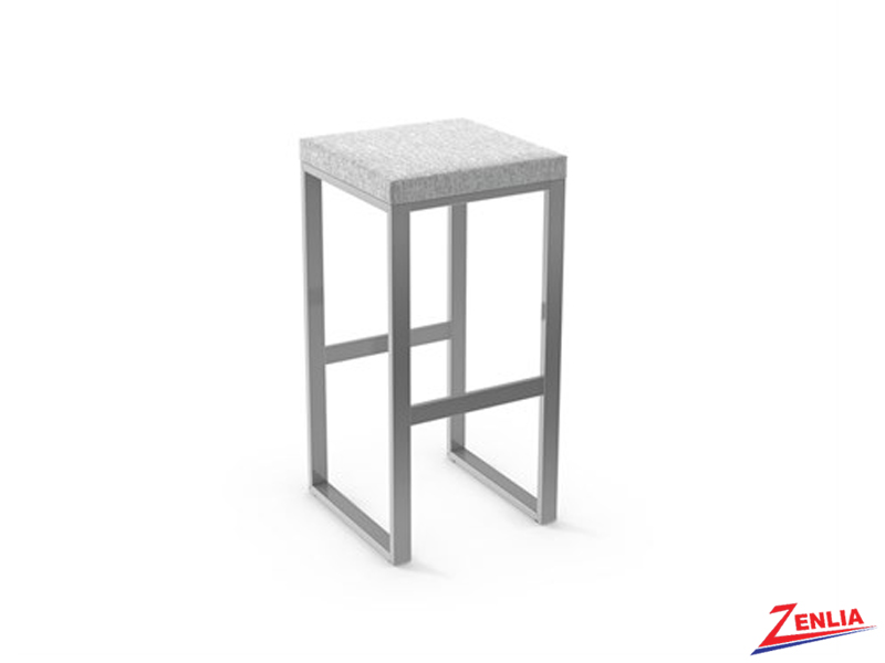 Style  40-039 Metal Fabric Non Swivel Stool