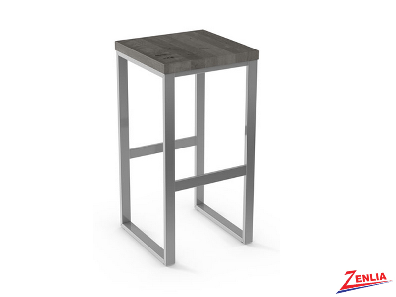 Style  40-039 Metal Wood Non Swivel Stool