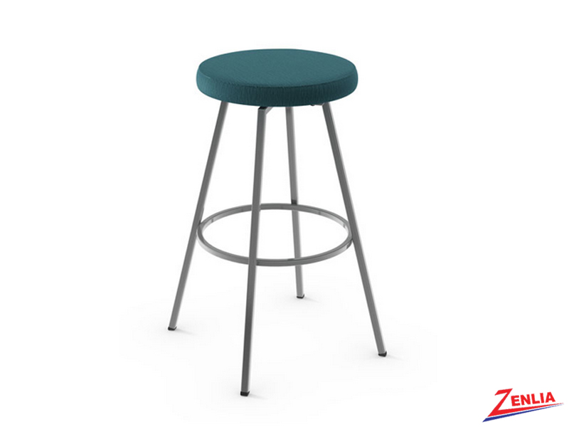 Style  42-504 Metal Fabric Swivel Stool