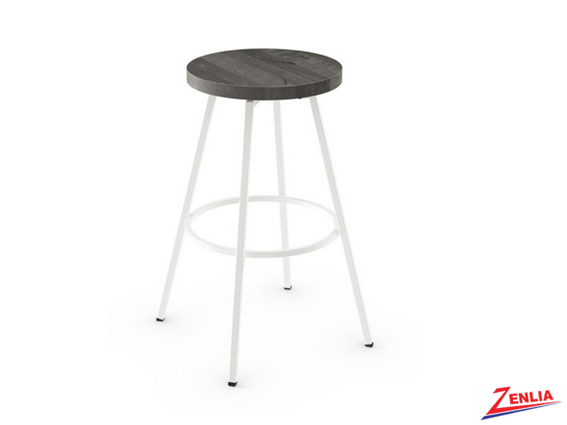 Style  42-504 Metal Wood Swivel Stool