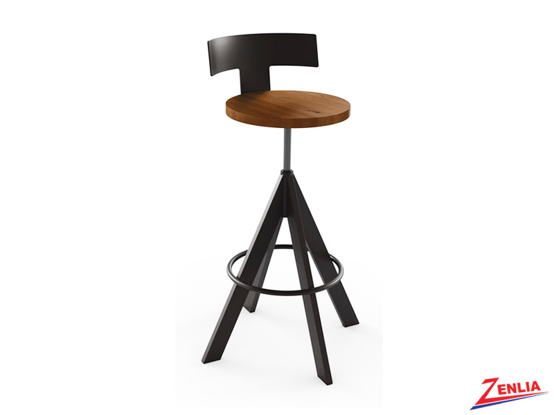 Style 40-614 Metal Wood Non Swivel Stool