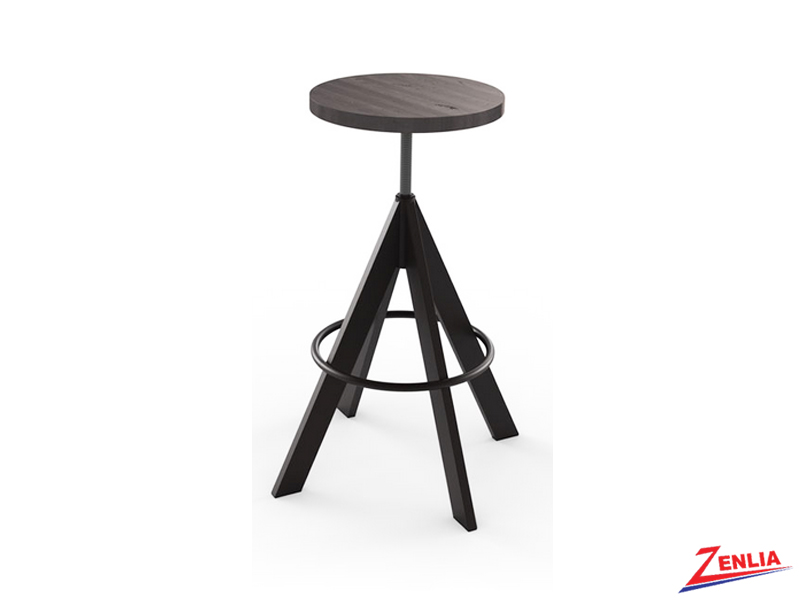 Style 42-614 Non Swivel Metal Wood Stool