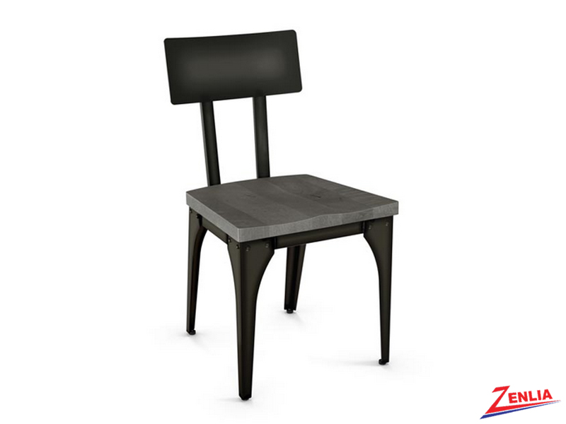 Archi Wood Seat With Metal Back Chair