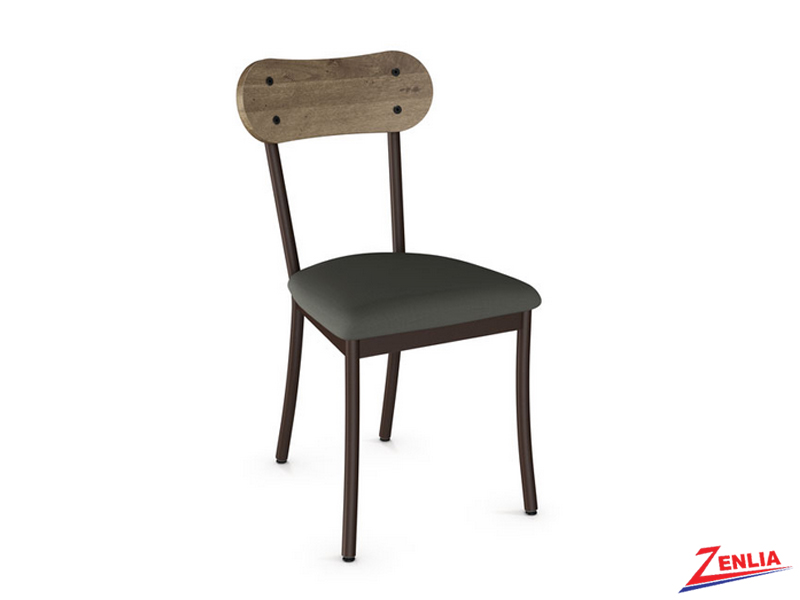 Bea Fabric Seat With Wood Backrest