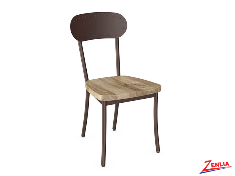 Bea Wood Seat With Metal Backrest