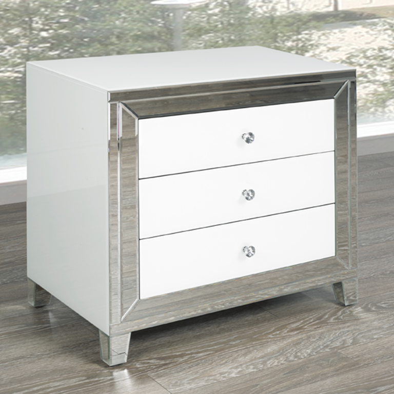 Wht 002 Large Night Stand