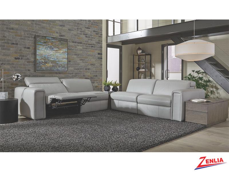 Titanium Sofa With Power Headrest