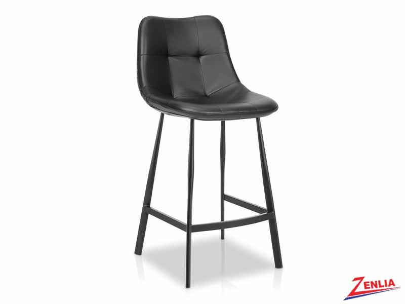 Bart Black Counter Stool