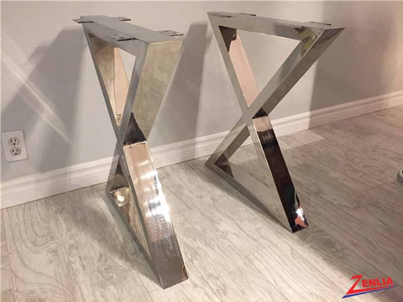 X Shape Stainless Steel Base