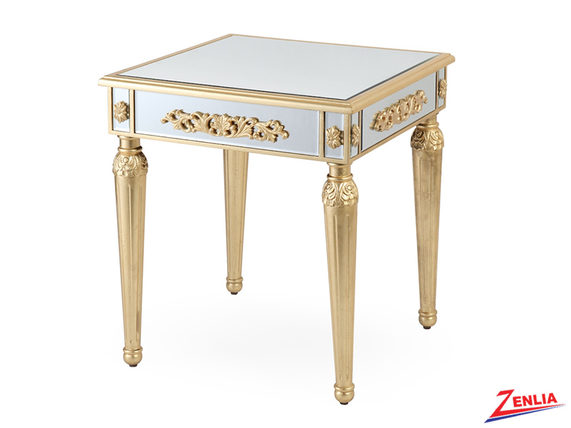 1243 Mirrored End Table