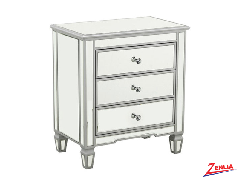Silver Large Night Stand