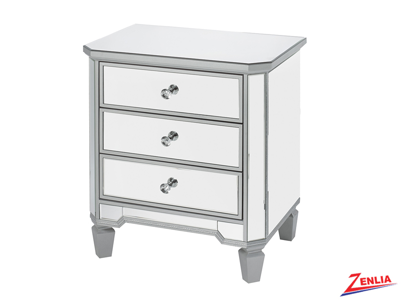 Silver Small Night Stand