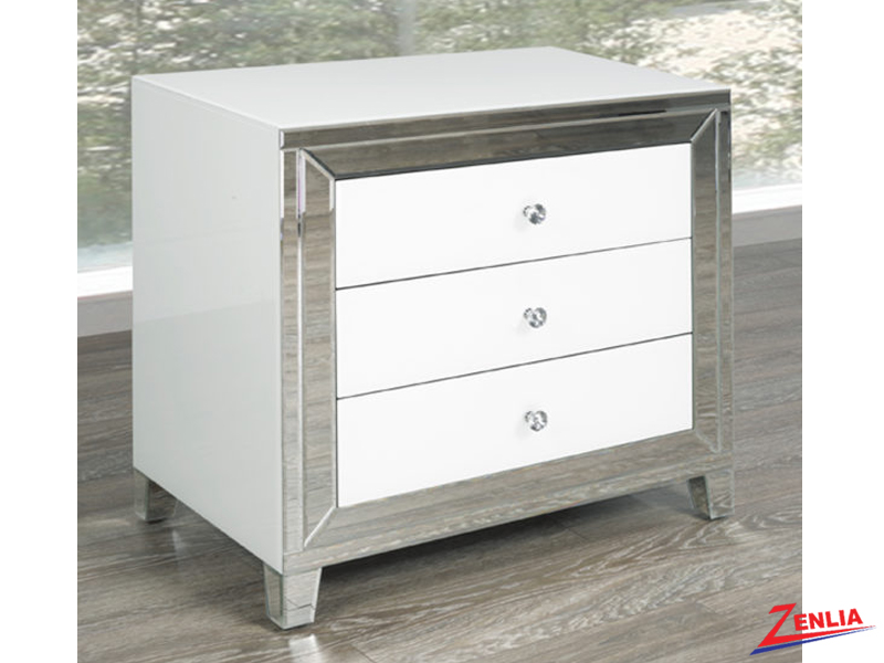 White Large Night Stand