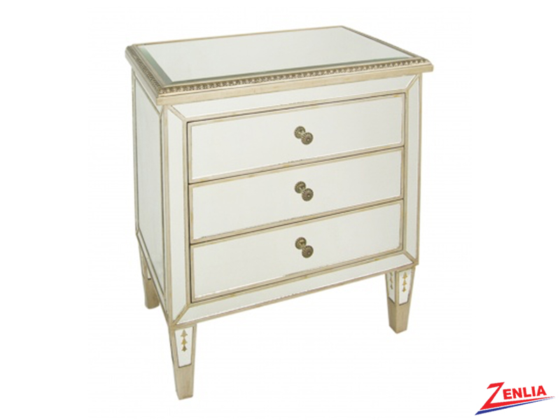 Gold Wood Trim Side Table