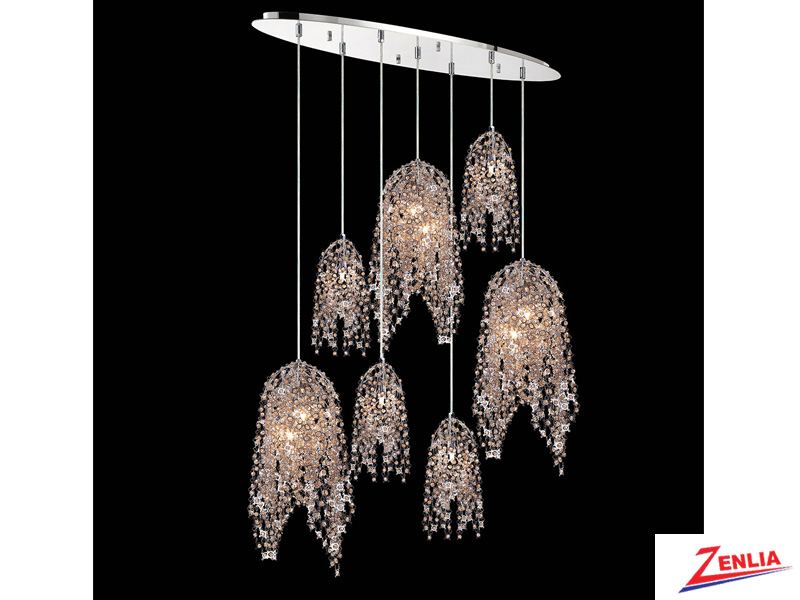 Danz 10 Light Oval Chandelier