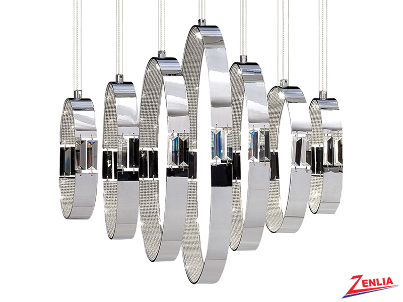 Glad 7 Light Led Chandelier