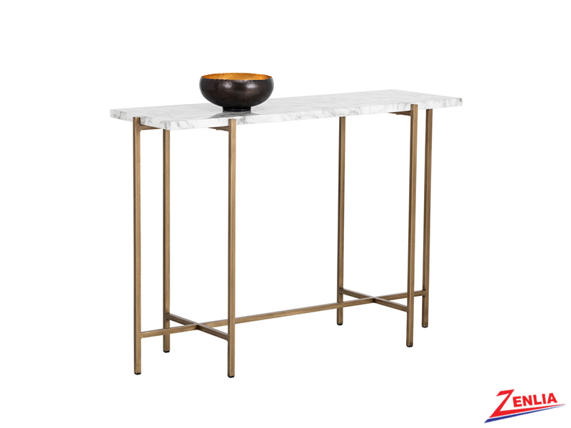 Sola Console Table With Marble Look