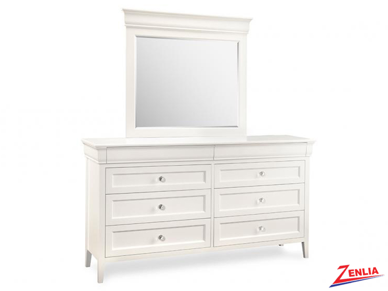 Monti 8 Drawer Long Dresser With Mirror