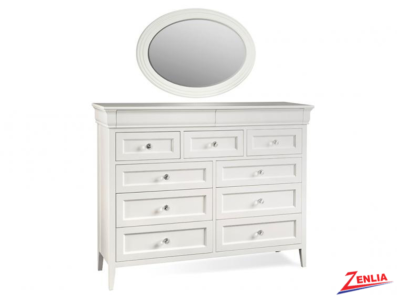 Monti 11 Drawer Dresser With Mirror